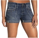 Foto V-Blue Juniors' Cuffed Denim Short with Rhinestones de