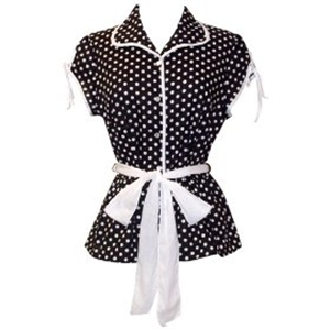 Foto 50's Rockabilly Polka Dot Top JR Plus Size de