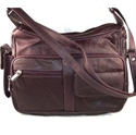 Foto Genuine Leather Handbag with Cell Phone Holder & Many Pockets de